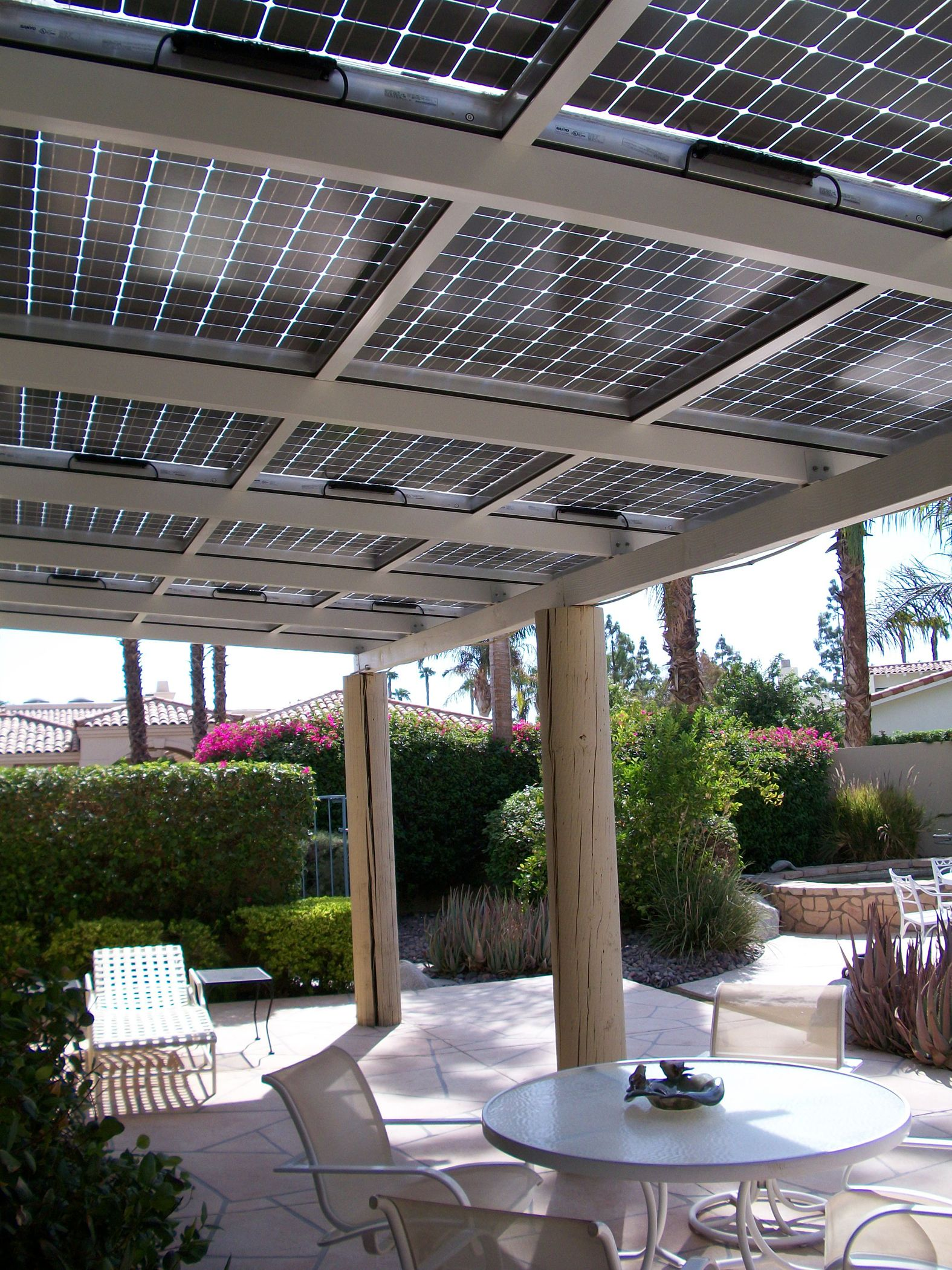 Use Pv Solar Panels To Shade A Patio Or A Carport This