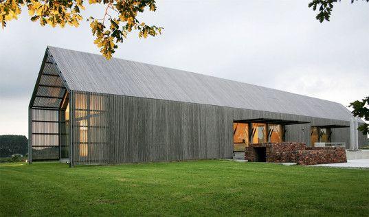 Green Renovation Barn Conversions Design Sustainable Eco Conversion BURO II Flanders Belgium