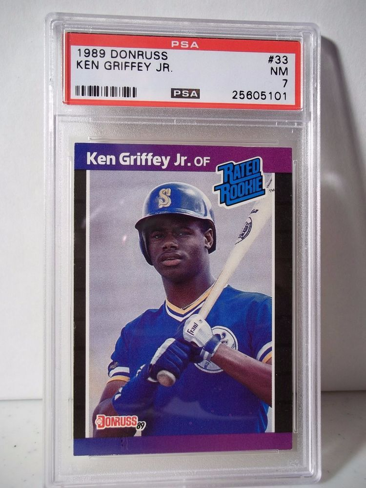 1989 Donruss Ken Griffey Jr Rookie Psa Graded Nm 7 Baseball