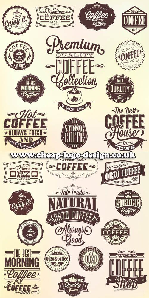 coffee shop logo graphic ideas www.cheaplogodesign.co.uk