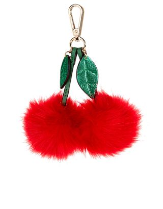 5bd21ff4354d Cherry Pom-Pom Bag Charm