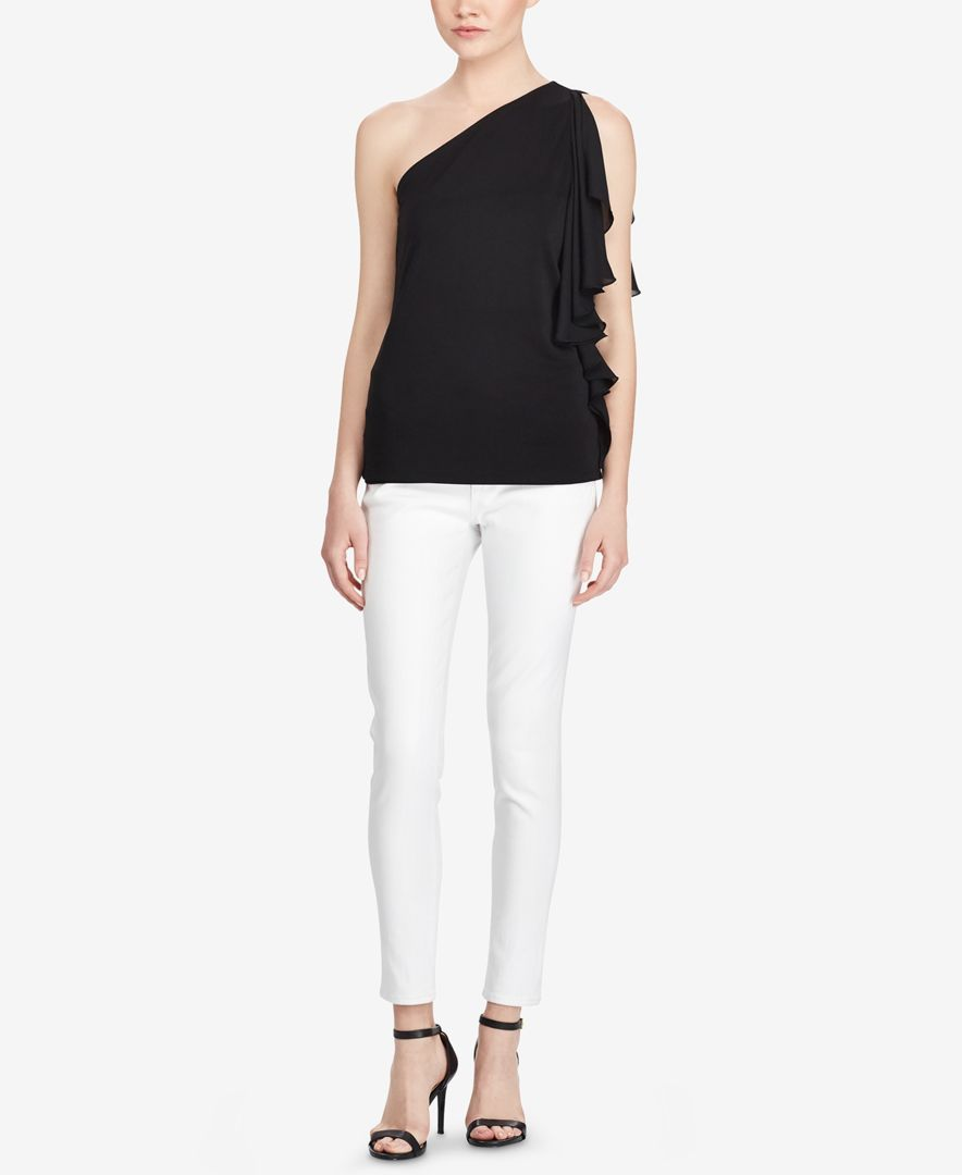 6e9693fa844 Lauren Ralph Lauren Ruffled One-Shoulder Top   Products   One ...