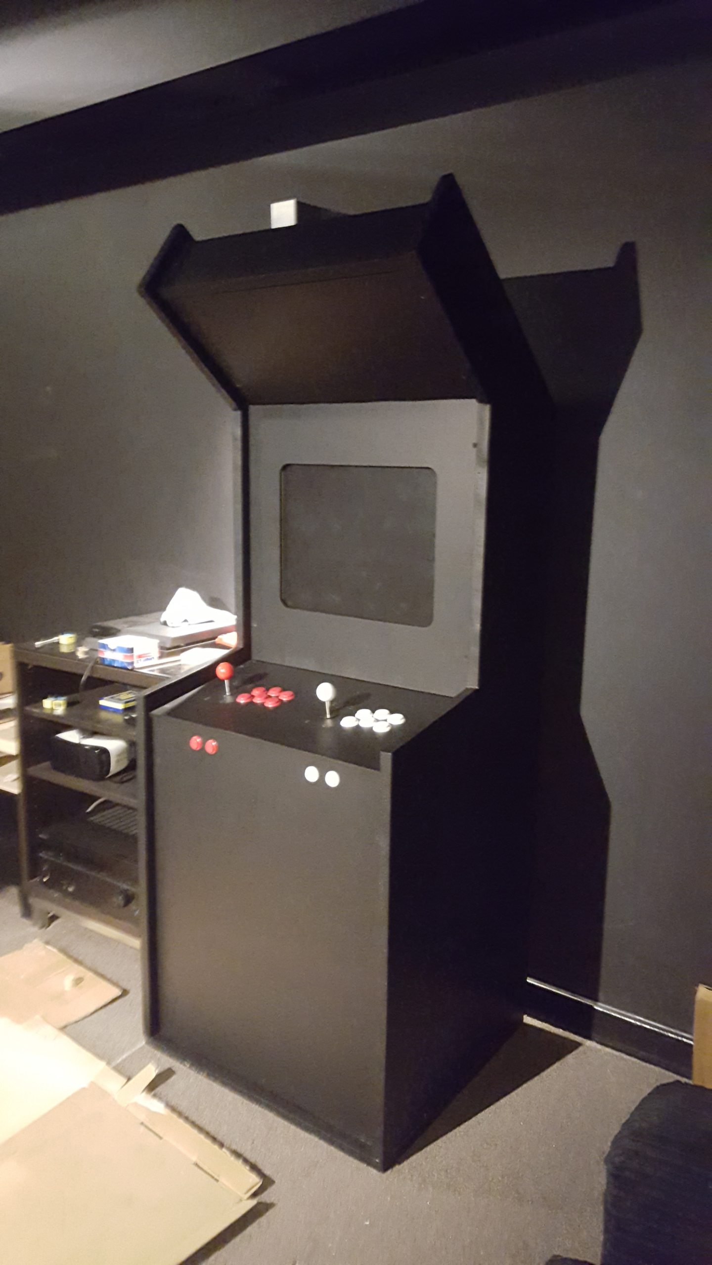 my raspberry pi arcade cabinet one month after starting the project rh pinterest com
