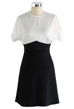 Two Tone Body-con Dress - Dress - Retro, Indie and Unique Fashion
