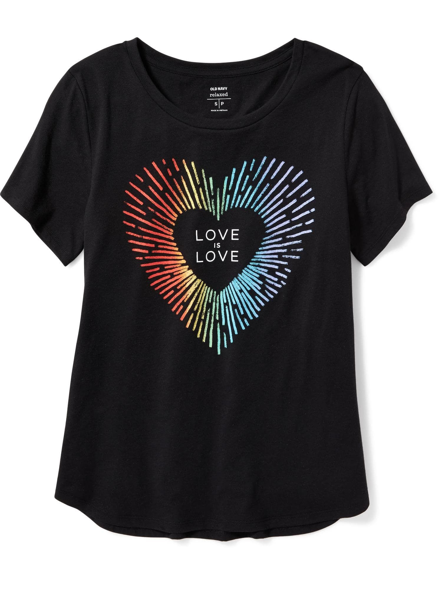 Black t shirt old navy - 2017 Pride Graphic Curved Hem Tee For Women Old Navy