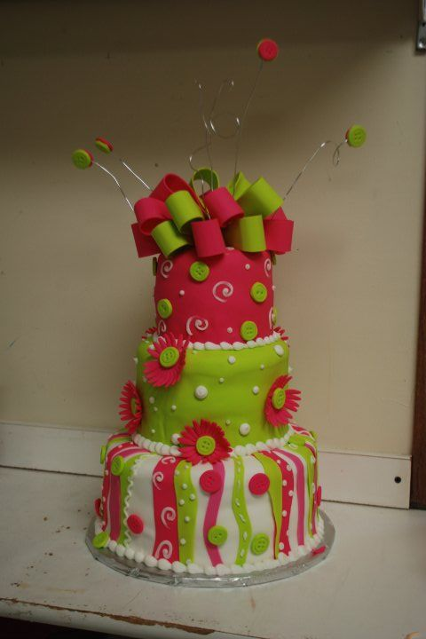 lime green and hot pink wedding cakes pink lime green wedding cake birthday cake pink and 16896