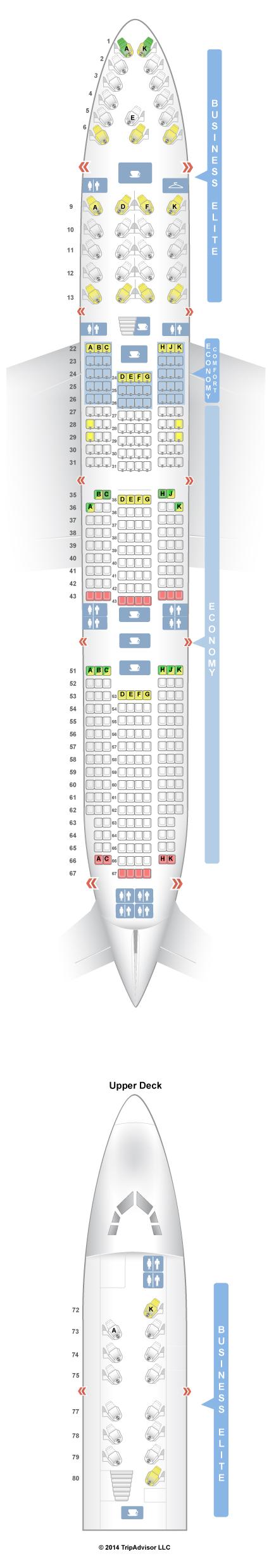 SeatGuru Seat Map Delta Boeing 747400 (744) Seatguru