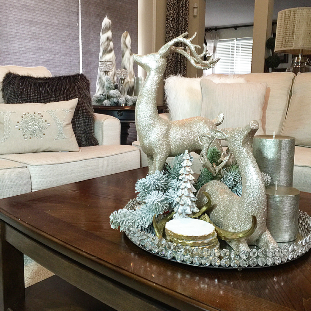 End Table Christmas Decorating Diy Faux Fur Christmas Trees Be
