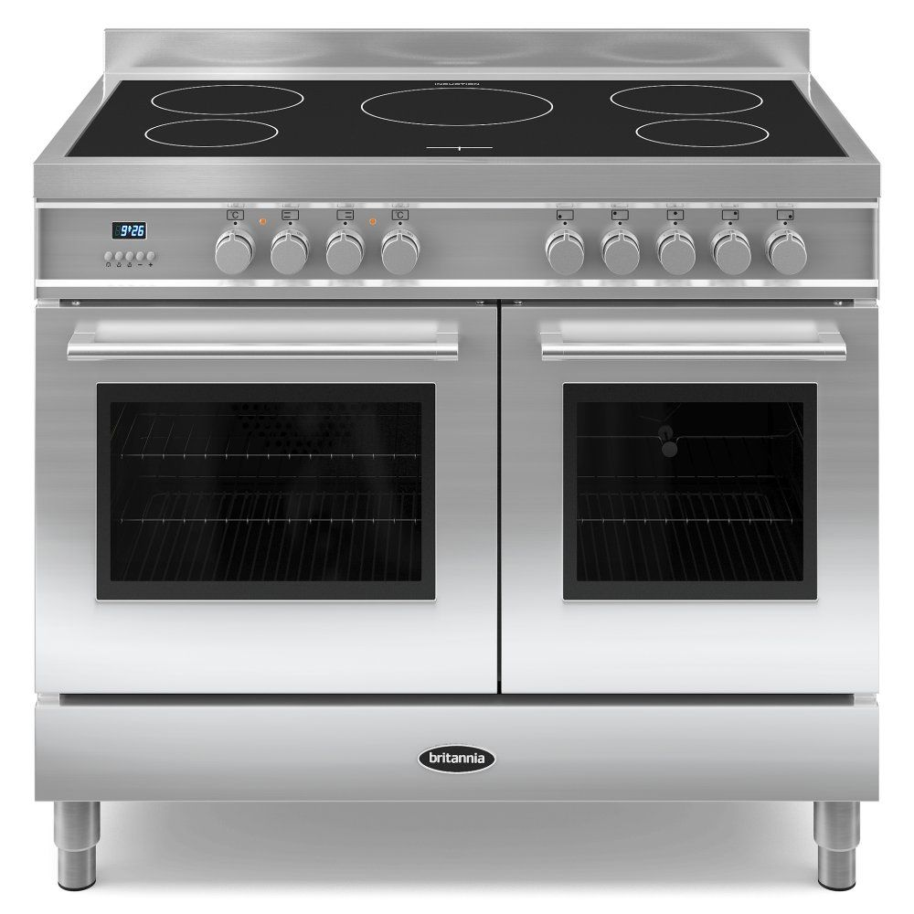 high end electric range with side by side double oven