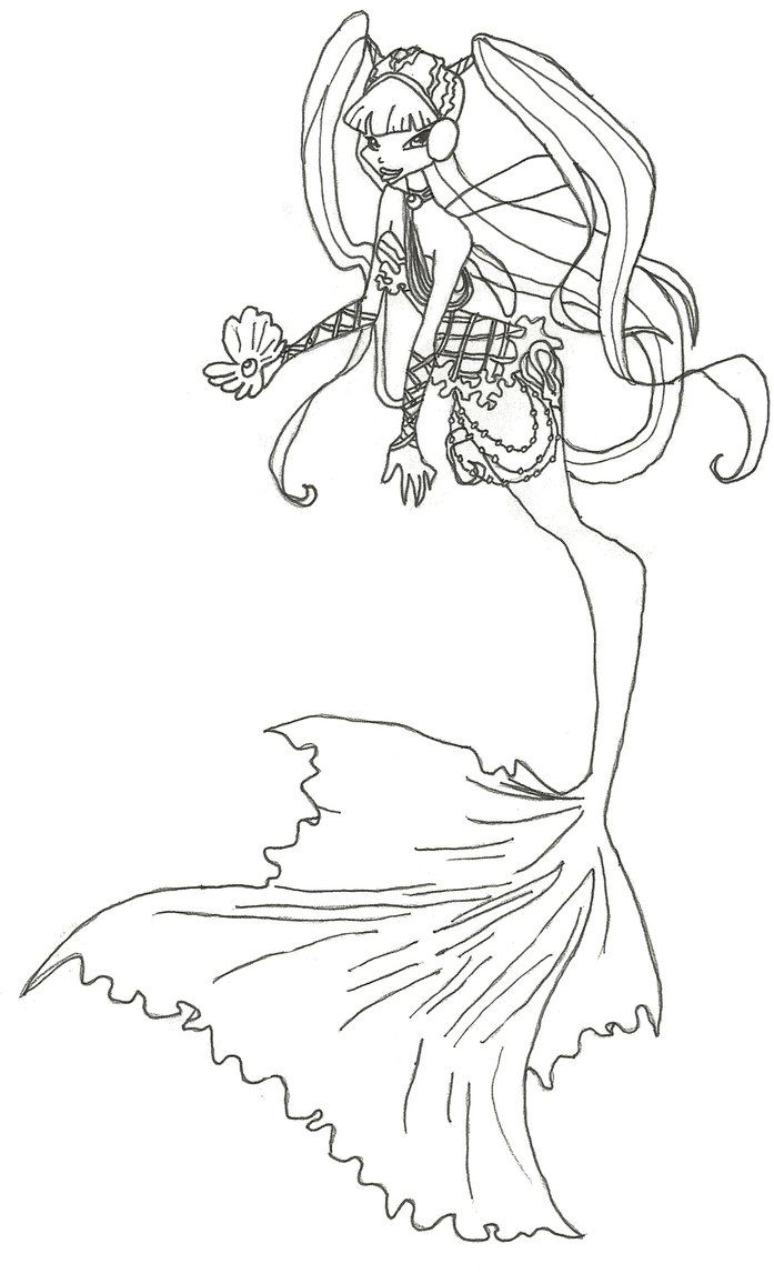 Winx drawing pages - Winx Club Mermaid Musa Coloring Page By Winxmagic237