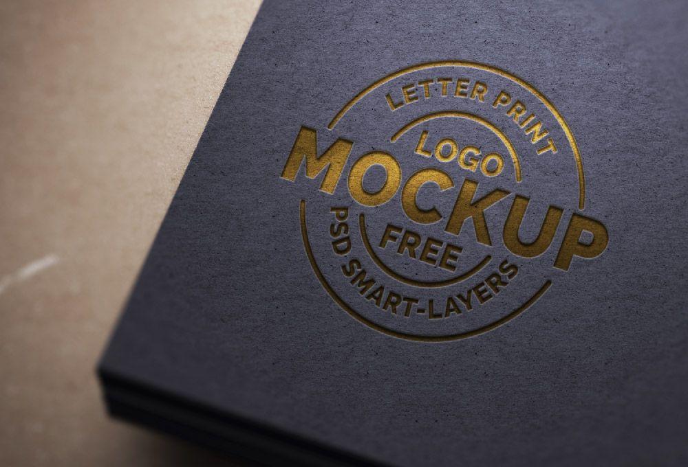 Paper Letterpress Logo Mockup Psd  Design    Mockup