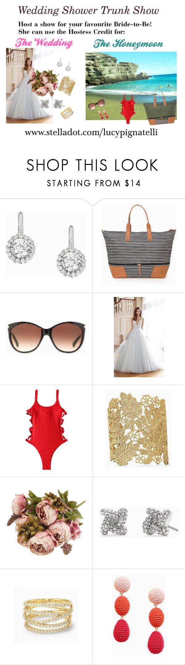 """""""Wedding Shower Trunk Show"""" by lucypignatelli on Polyvore featuring Stella & Dot, Southpoint and David Tutera"""