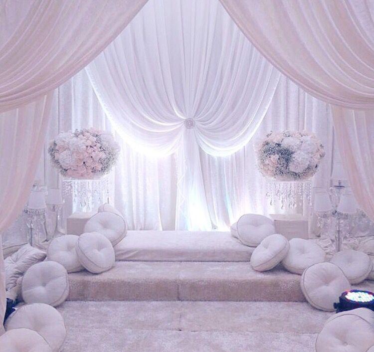 Wedding Nikah Simple Backdrop Decoration Muslim: Simple Wedding Decorations