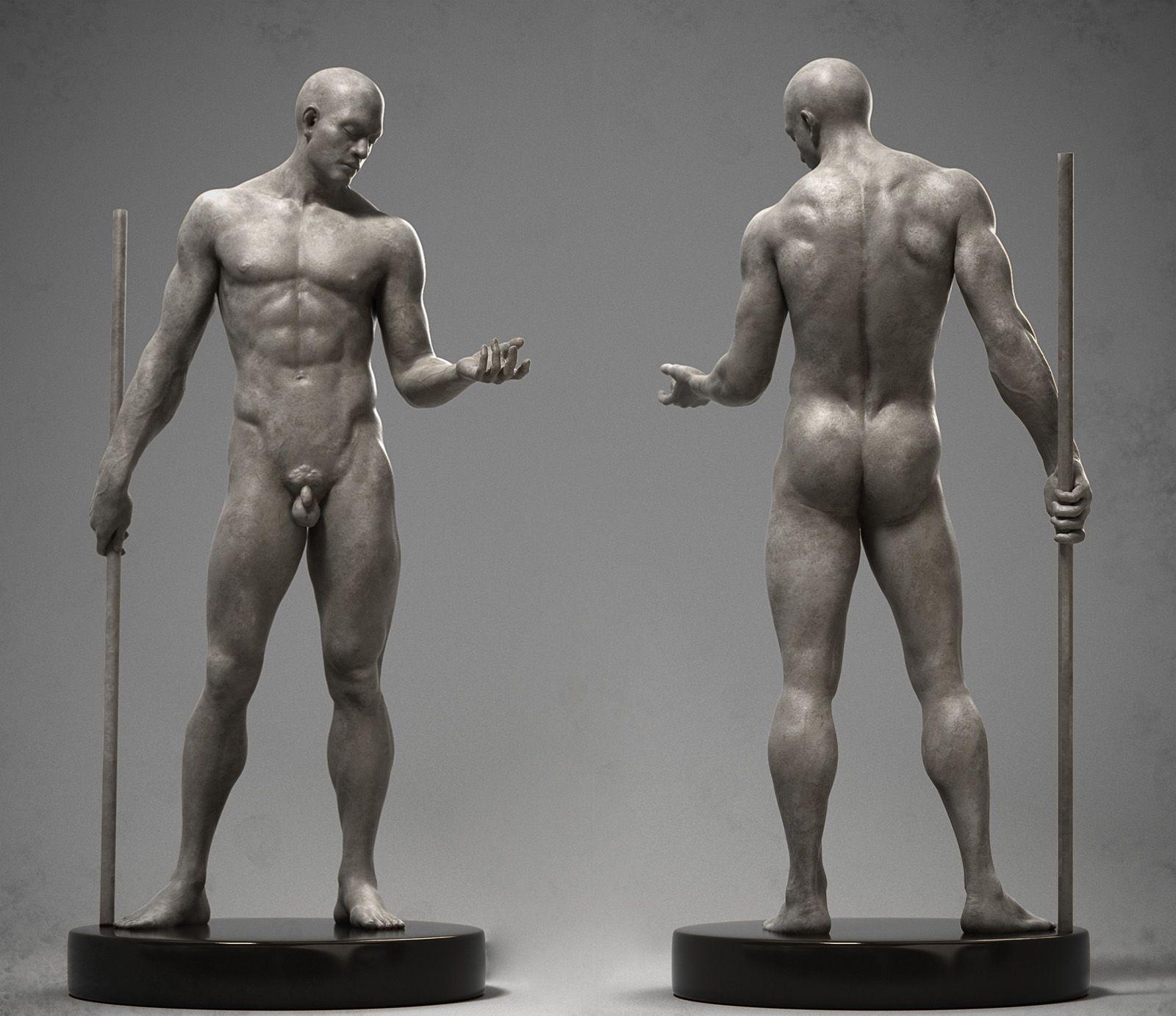 Мужские голые фигуры жопа огромные буфера