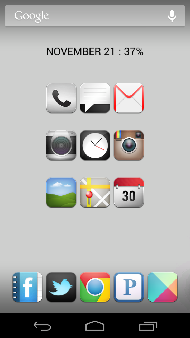 It's not a theme, I run Nova Launcher which allows for