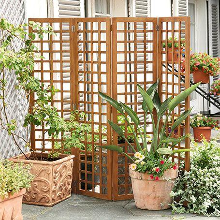 Sichtschutz-Faltparavent - Paravents & Sichtschutz | Garten ...