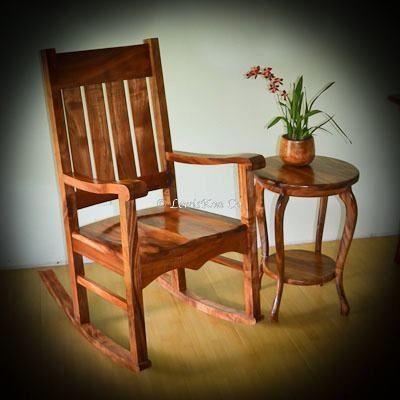 Terrific Queen Liliuokalani Koa Rocking Chair With Koa Cabriole Side Machost Co Dining Chair Design Ideas Machostcouk