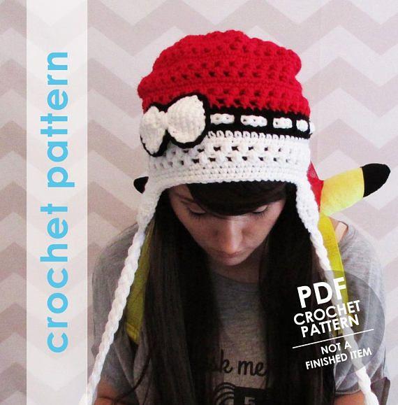 Crochet pattern pokemon crochet pokeball hat pokemon hat anime ...
