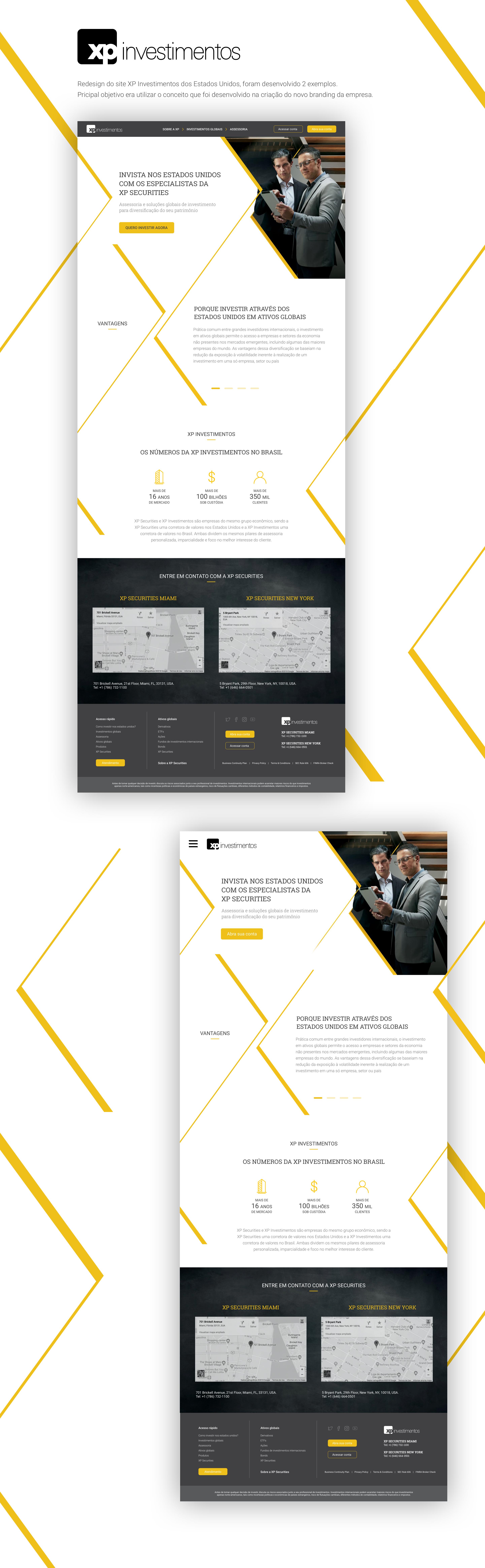 Redesign Web Site Xp Investimento Uxdesign Uidesign Investimentos