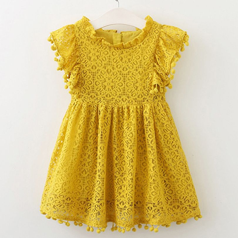 43f4abcb526a5 Girls Dress 2018 New Style Summer Kids Bright color Cute Lace Dress ...