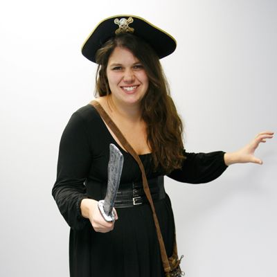 This is an easy to put together DIY female pirate costume that uses some staple wardrobe pieces. This isn't just for Halloween (or Talk Like a Pirate Day) though. You'll be able to wear most of the costume again throughout the year since it incorporates an LBD, boots and a belt you may already own....Read More »