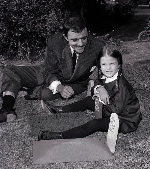 John Astin Gomez And Lisa Loring Wednesday The Addams Family