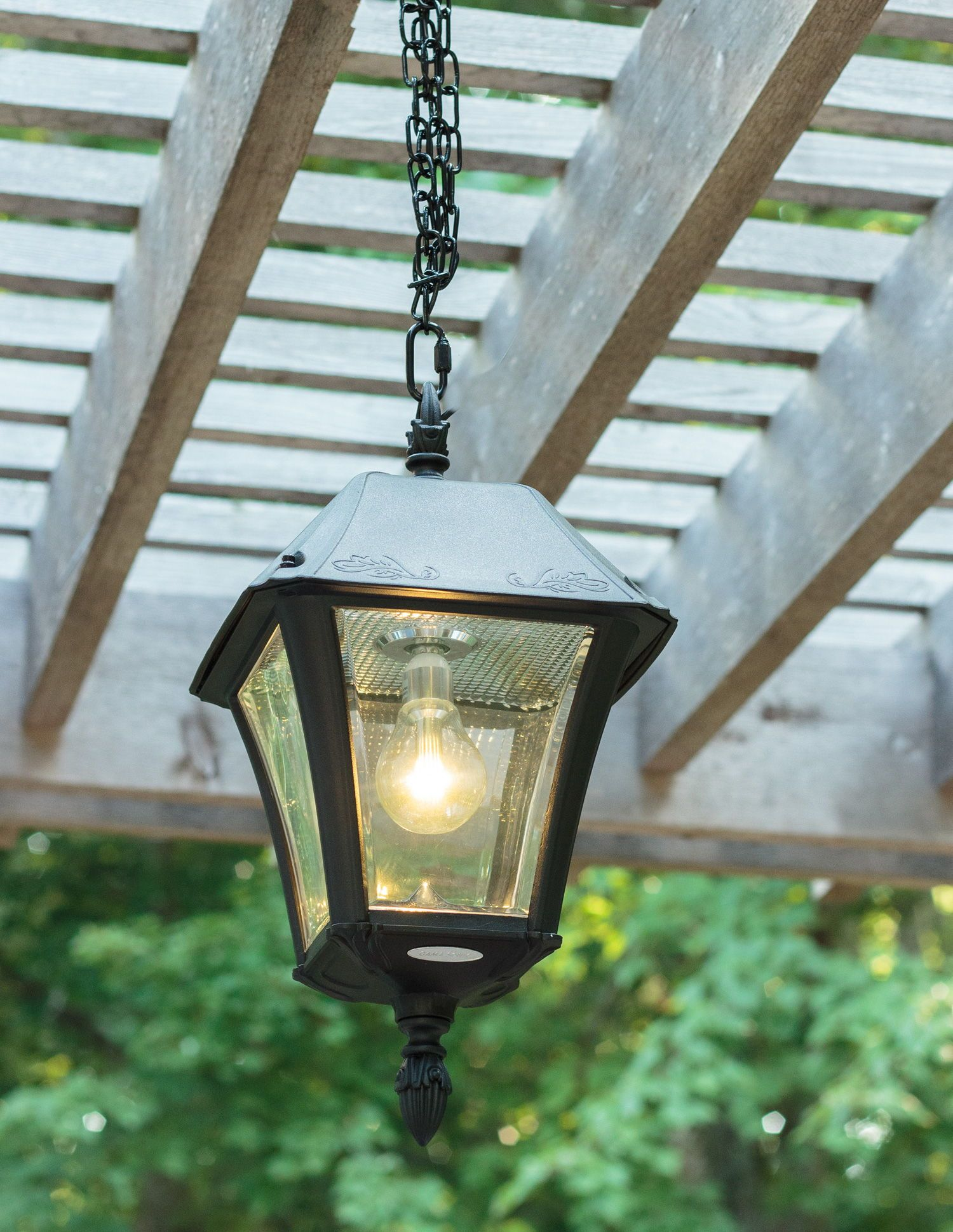 Baytown Ii Bulb Solar Hanging Light Gs 105b Cx Electrical Wiring Fixture Brightly Enhance Your Pergola Or Gazebo With The Outdoor This Does Not Require
