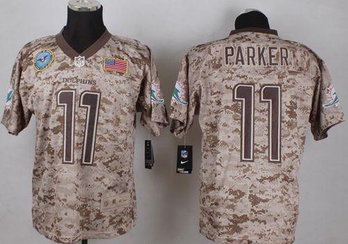 e302af939 Nike Dolphins  11 DeVante Parker Camo Men s Stitched NFL New Elite USMC  Jersey And  Eric Berry jersey
