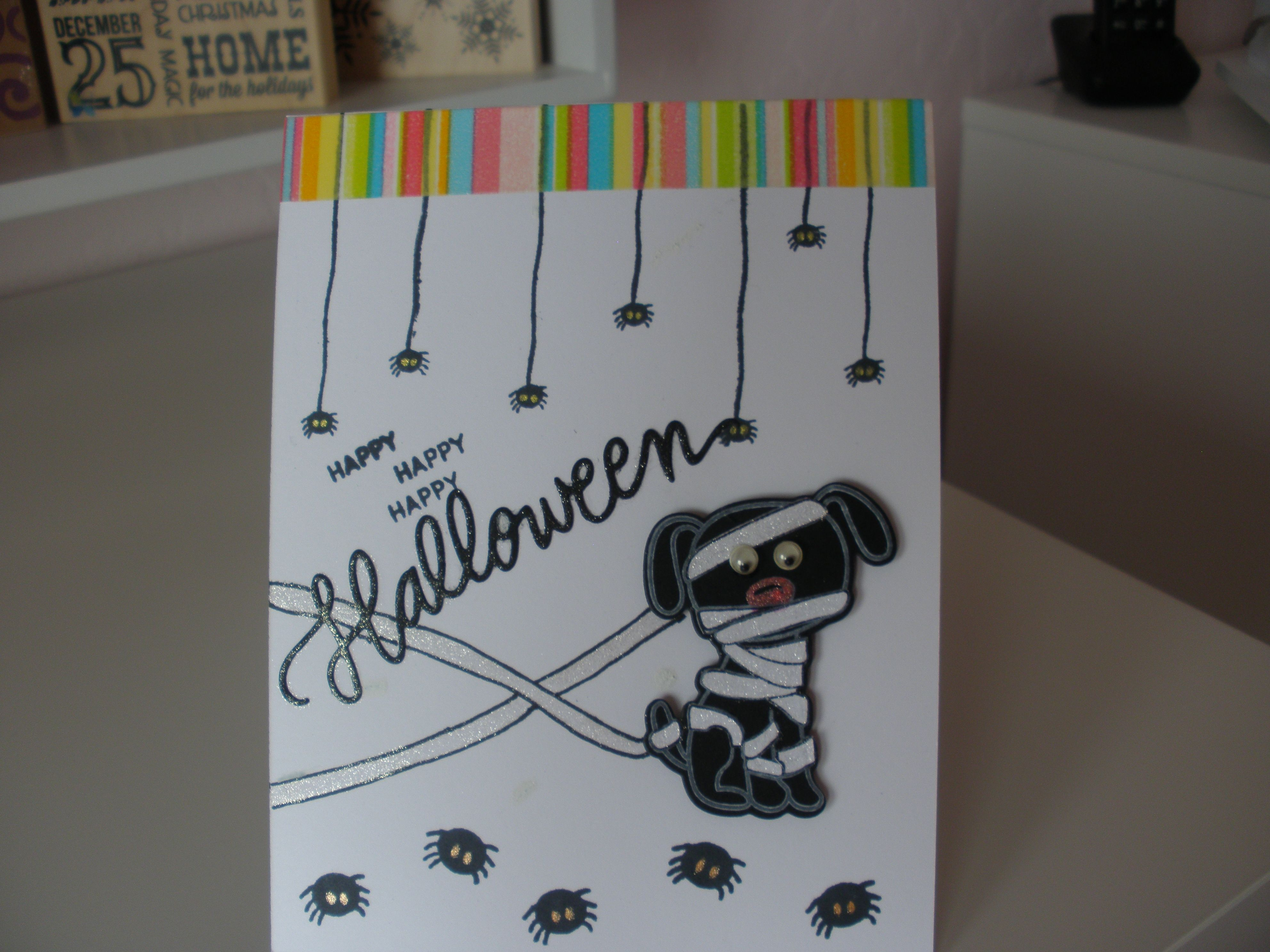 Halloween card using SSS stamps and dies