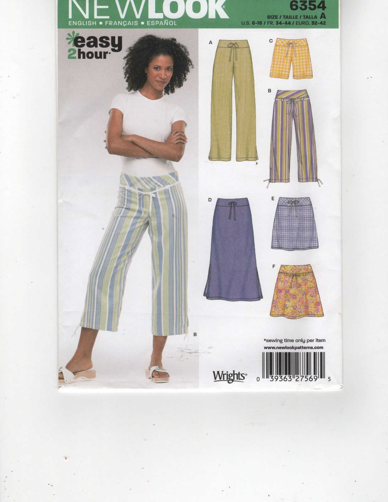 New look easy 2 hour pattern 6354 misses pants shorts skirt size new look easy 2 hour pattern 6354 misses pants shorts skirt size 6 16 jeuxipadfo Image collections