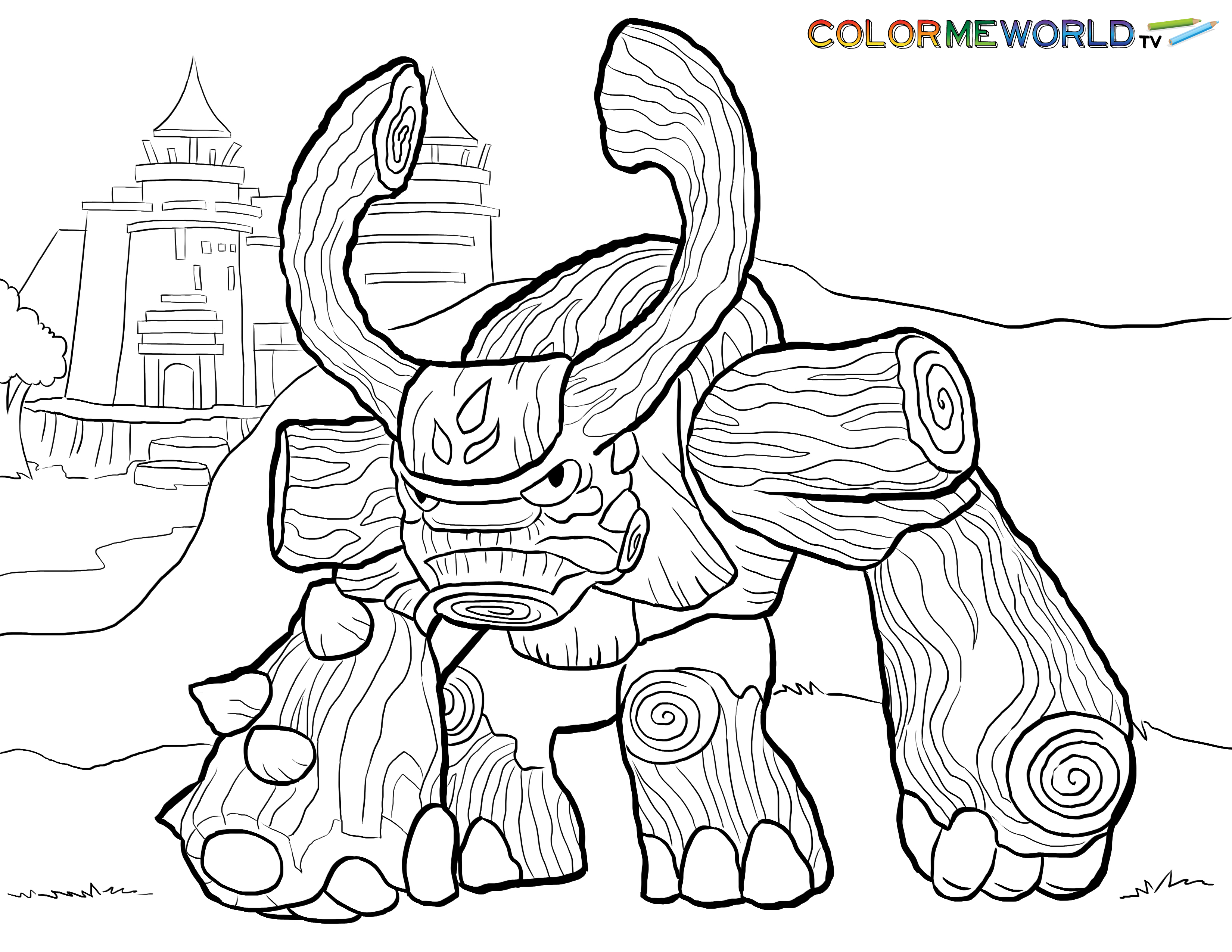 Skylanders coloring pages for boys ~ Tree Rex Coloring Page | Skylander's Coloring Pages ...