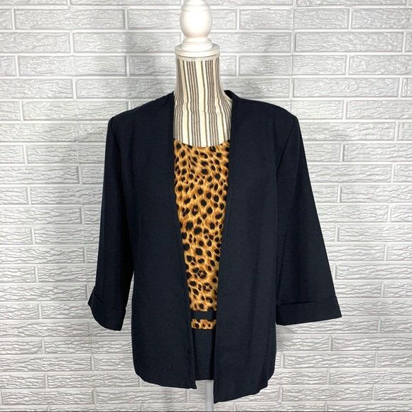 Vintage Kathie Lee Collection Leopard Top Blazer by ...