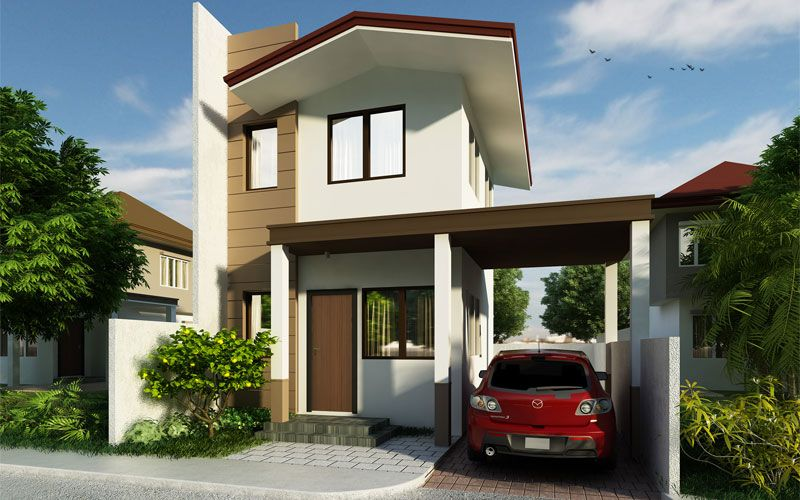Pinoy House Design 201509 Is A Small Two Storey House With A Floor Area Of Only 50 M Fitted In