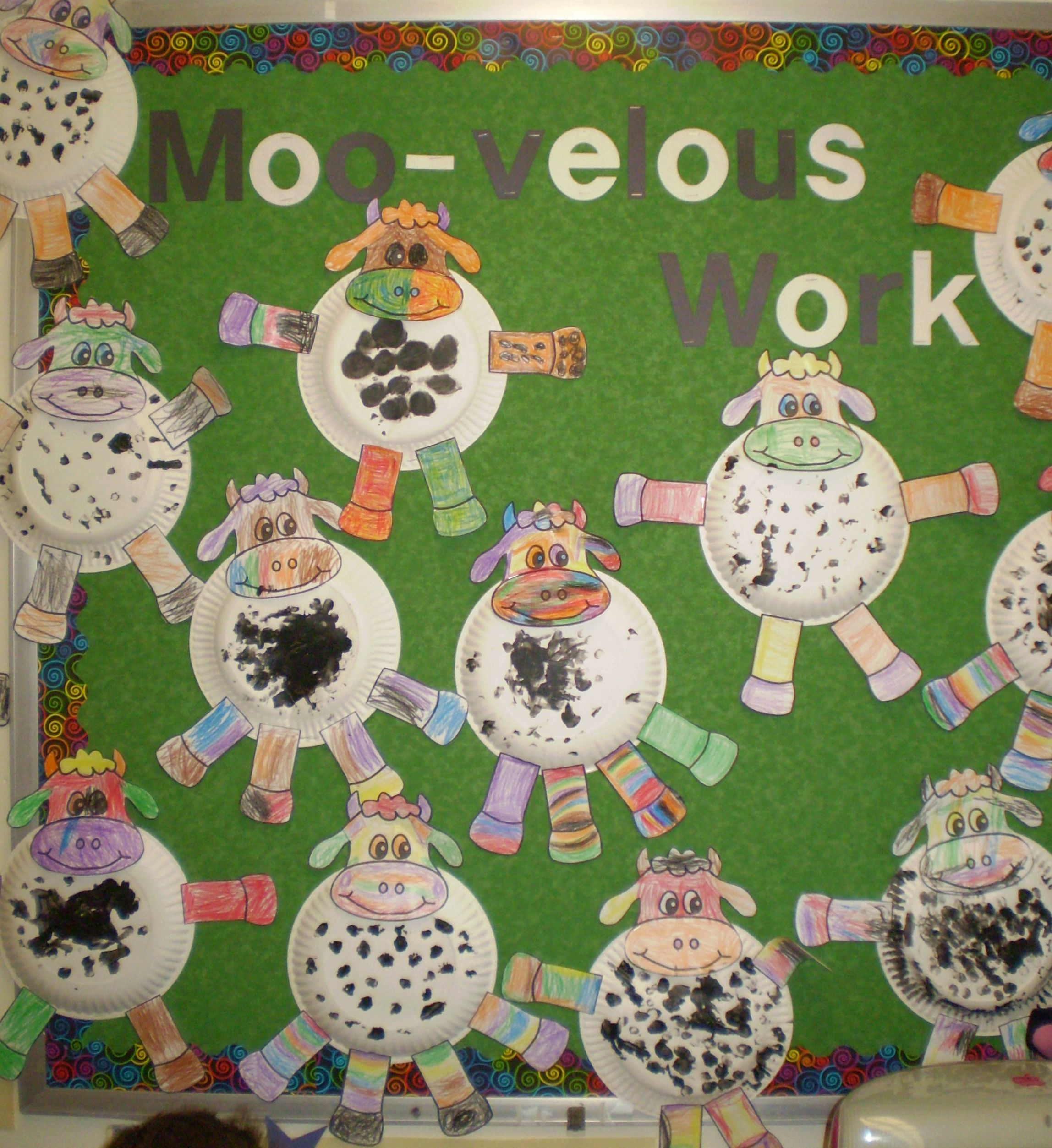 Cow Bulletin Board Paper Plate Craft