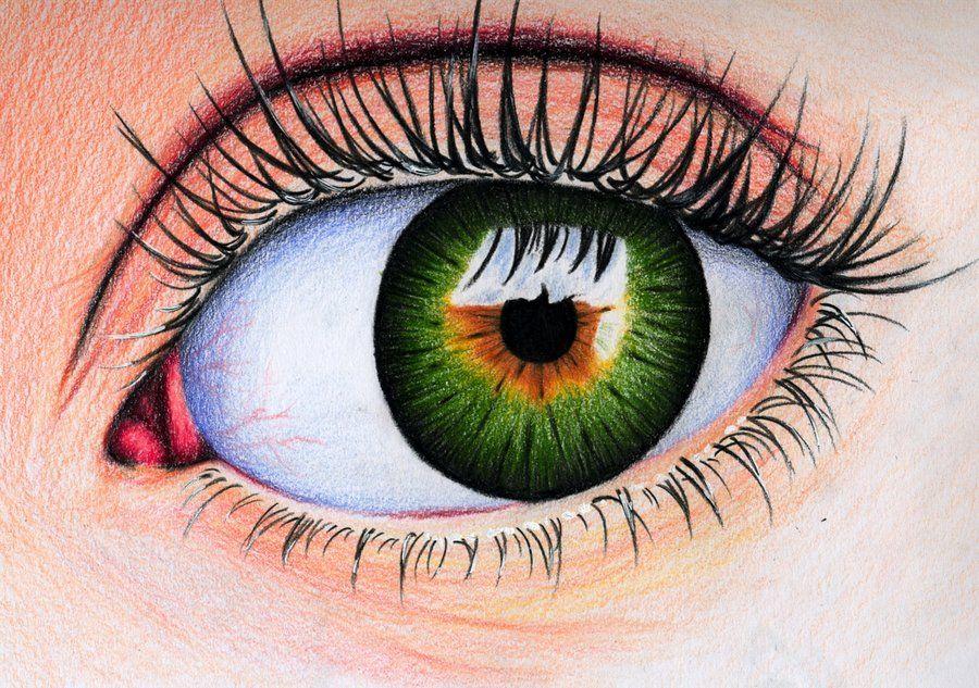 Pin by Deb Coloring on Color pencil Eyes, Crayon