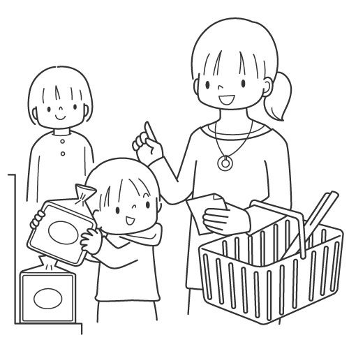 Supermarket coloring page | Coloring pages, Color, Cartoon ...