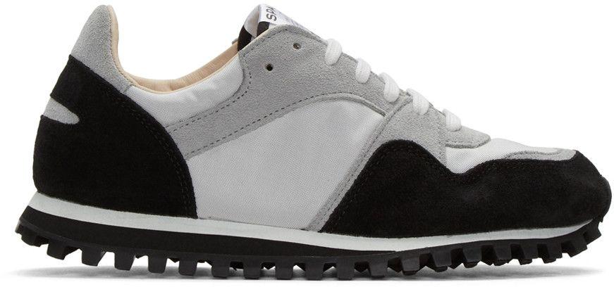 Black and Grey Marathon Trail Sneakers Spalwart LQKspe