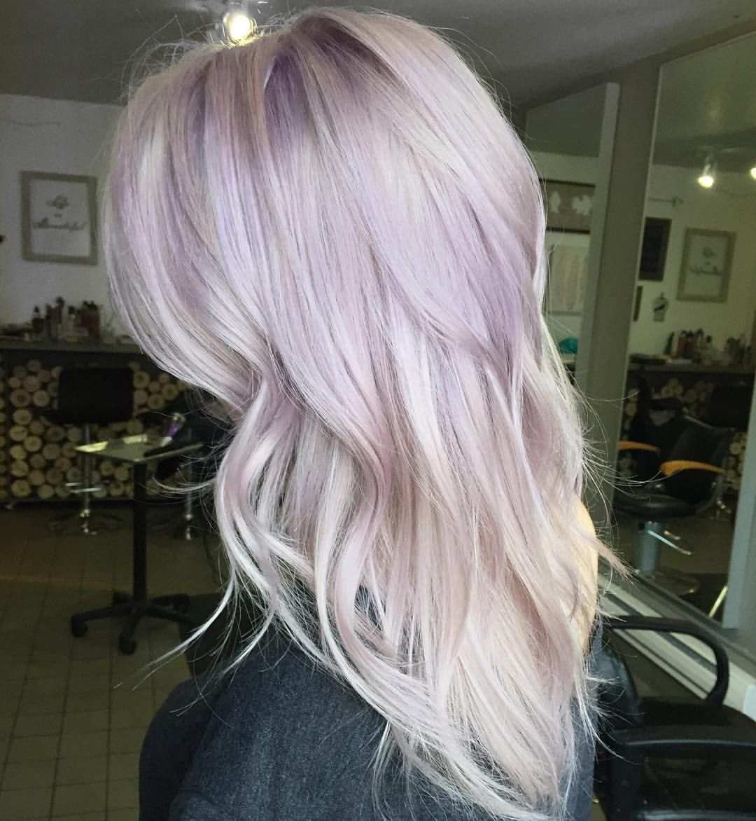 a touch of lilac for this blonde beauty hair pinterest