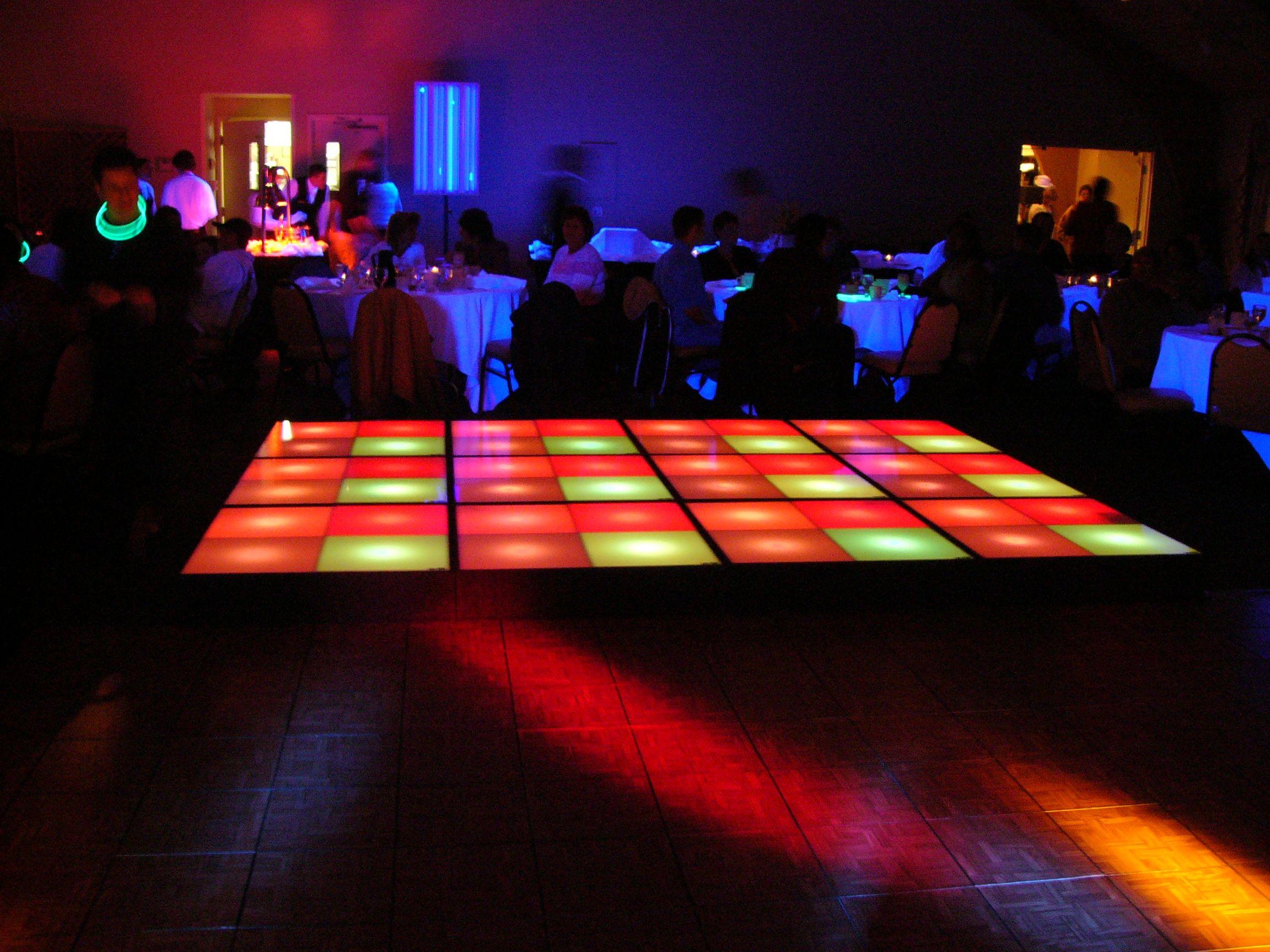 Dance Floor Lighting 70 S Themed Nye Party Pinterest