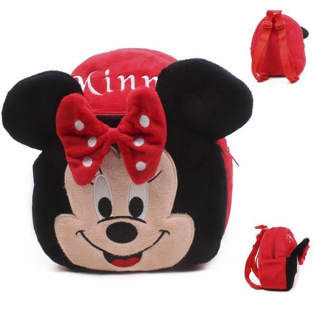 Character Plush Kids Backpack, MINNIE MOUSE PINK