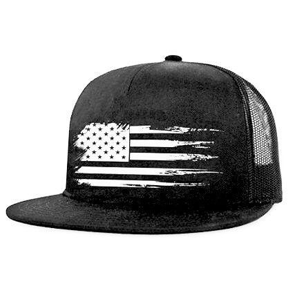 FLAG SERIES | BLACK AND WHITE | SNAP BACK HAT
