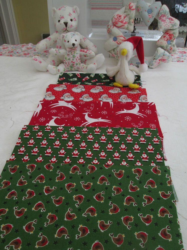 BN Brilliant Bundle of 5 Makower & Robert Kaufman Christmas Designs