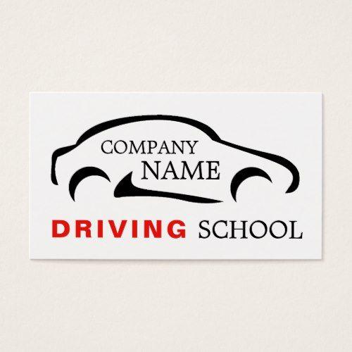 Black Car Logo Driving School Instructor Business Card Zazzle Com Car Logos Driving School Driving Instructor