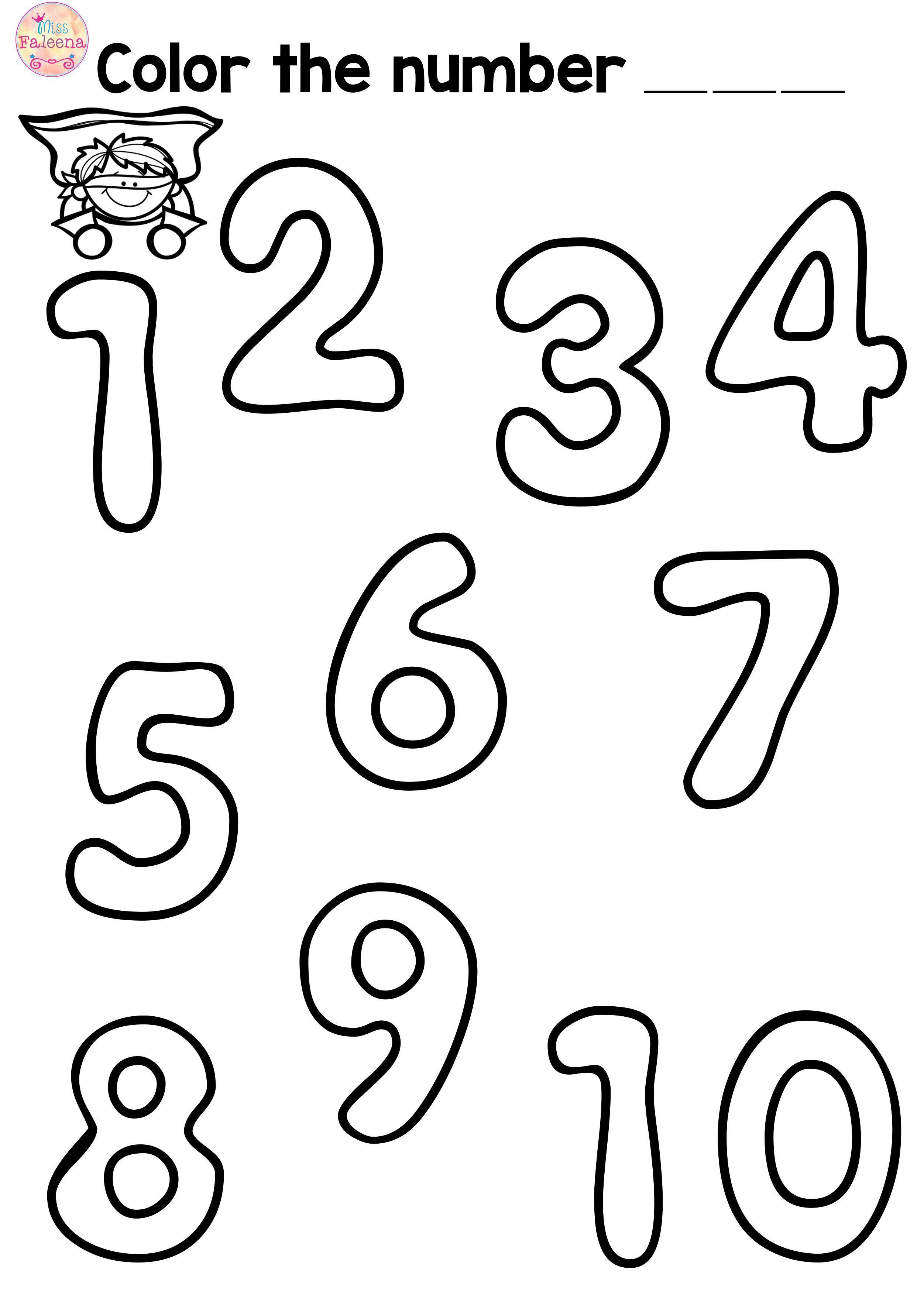 Free Number Practice Kindergarten Worksheets Printable Numbers Kindergarten Preschool Worksheets [ 3508 x 2503 Pixel ]