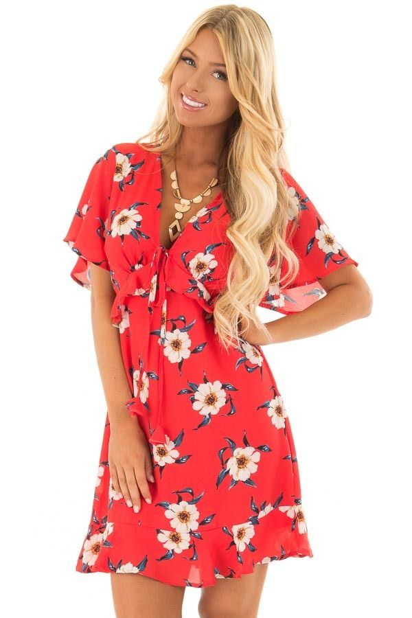 Lime Lush Boutique - Scarlet Floral Print Dress with ...