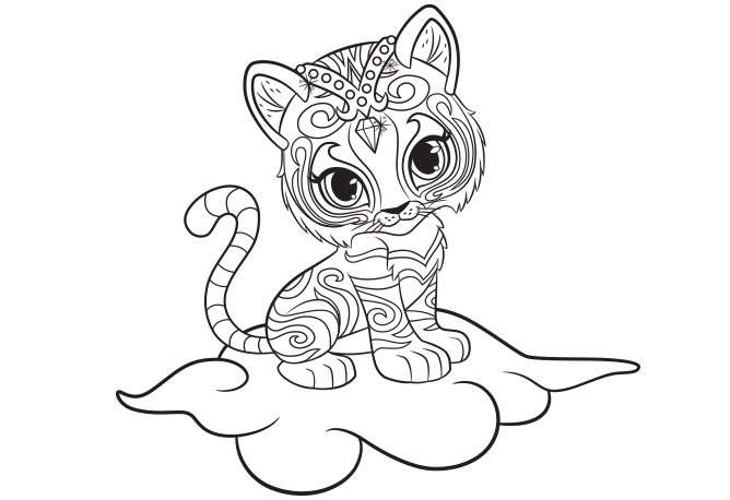 Shine And Shimmer Coloring Pages Printable Zoe Geine