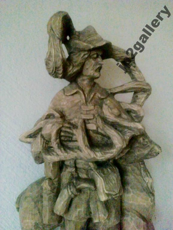 Swiety Hubert Rzezba W Drewnie Lipowym 70 Cm 5743220968 Oficjalne Archiwum Allegro Greek Statue Statue Art