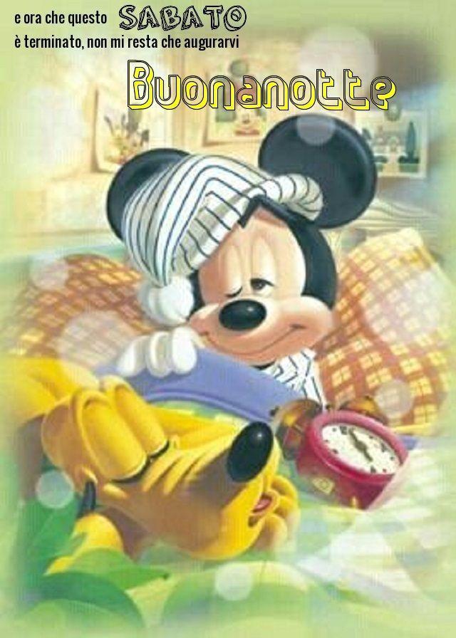 Buonanotte Sabato Disney Mickey Mouse Mickey Mouse E Disney Mickey
