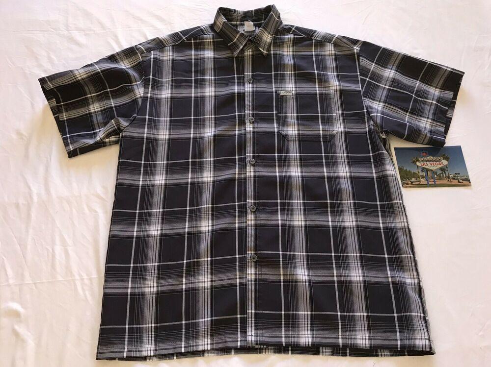 NWT Mens Tommy Hilfiger Blue//White Plaid Short Sleeve Shirt Custom Fit Medium