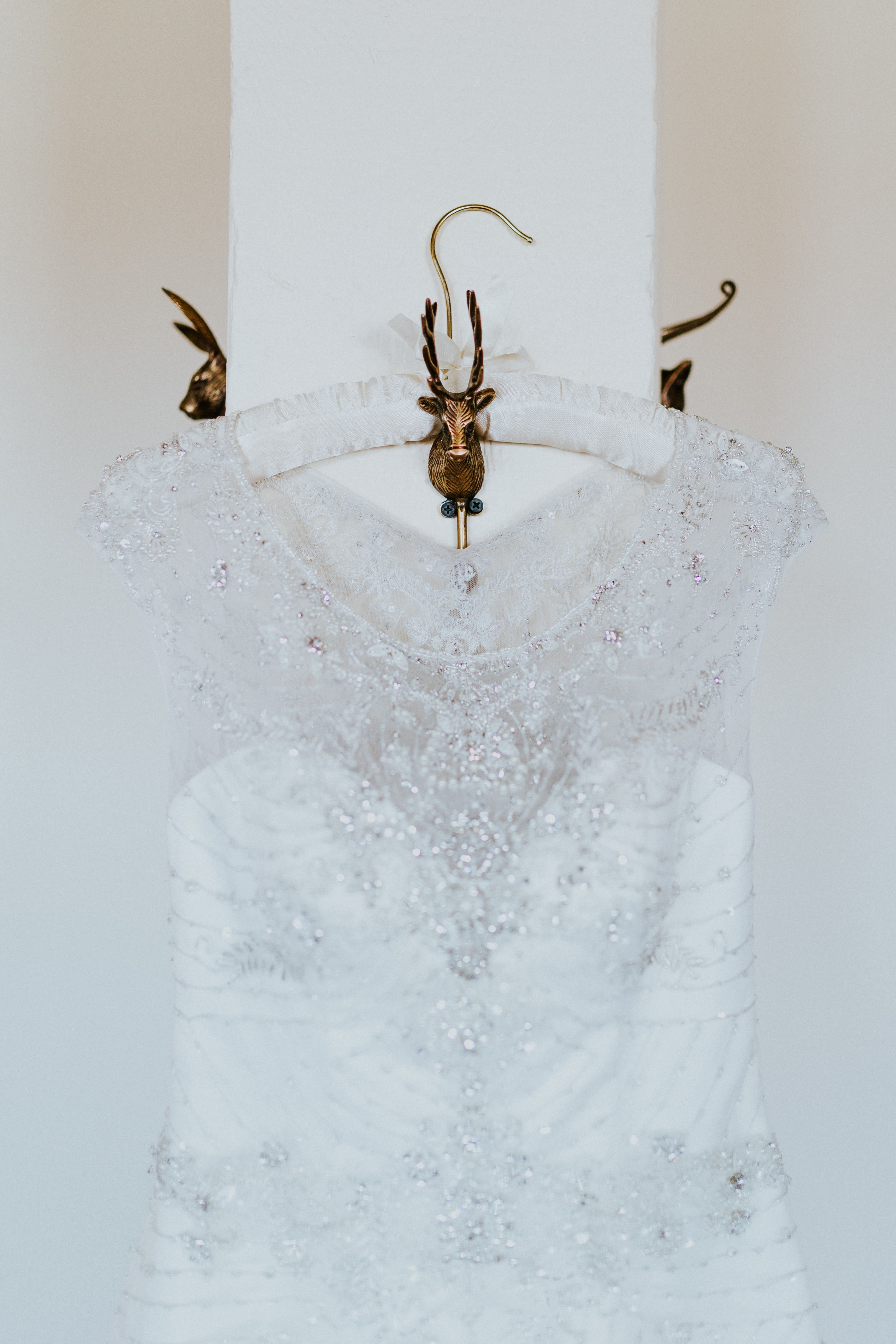 Casablanca bridal style dress shot beaded illusion neckline